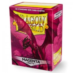 Protèges cartes Dragon Shield - MATTE Magenta