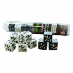 Blackfire Dice - Positive/Negative D6 Dice 16 mm (8 Dice in Tube)