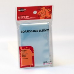 Sachet de 100 Protèges Cartes souples Jeu de plateau Medium (59x92mm)