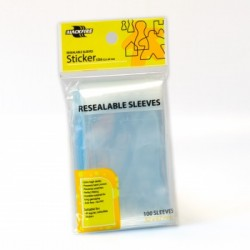 Sachet de 100 Protèges Cartes souples refermables Jeu de plateau Sticker (52x67mm)