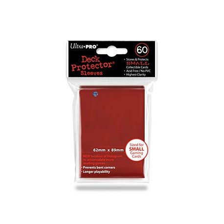 Deck Protector Sleeves SMALL - Rouge