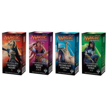 Collection des 4 Challenger Deck 2018 Magic The Gathering