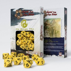 Legend of 5 Rings dice set: Dragon Clan