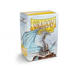 Protèges cartes Dragon Shield MATTE - Silver
