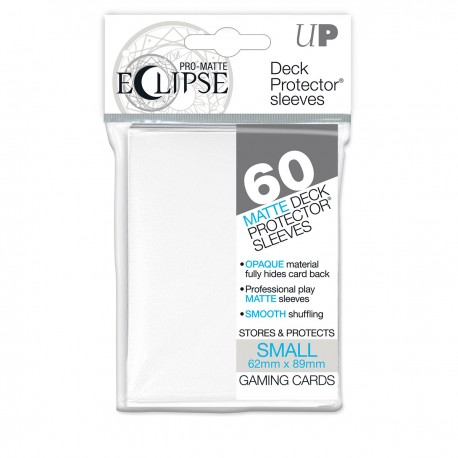 60 Deck Protector Sleeves SMALL MATTE - Blanc
