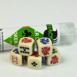 Blackfire Dice - 16mm Poker Dice Set