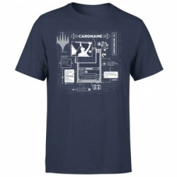 Magic The Gathering Card Grid T-Shirt - Navy - L