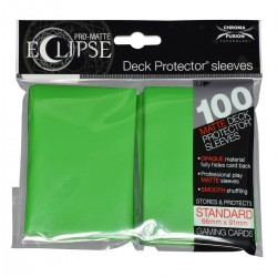 100 Protèges Cartes Matte Eclipse Lime Green Standard Deck - Ultra Pro