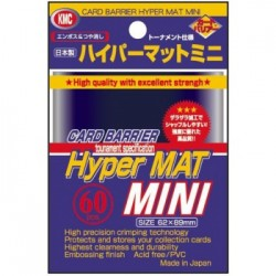 Sachet de 60 Protèges Cartes SMALL Hyper Mat Blue