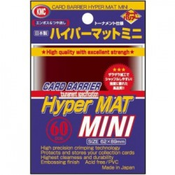 Sachet de 60 Protèges Cartes SMALL Hyper Mat Red