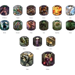 Magic: The Gathering Relic Tokens - Relic Tokens Lineage Collection
