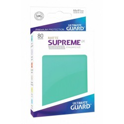 80 Protèges Cartes Supreme UX Sleeves taille standard Turquoise Mat - Ultimate Guard
