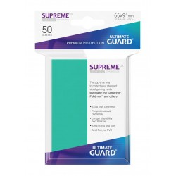 50 Protèges Cartes Supreme UX Sleeves Turquoise