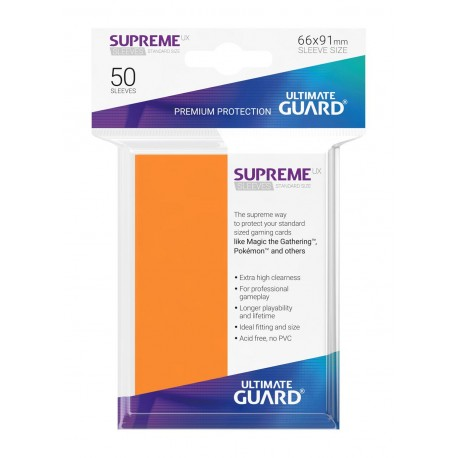 50 Protèges Cartes Supreme UX Sleeves Orange