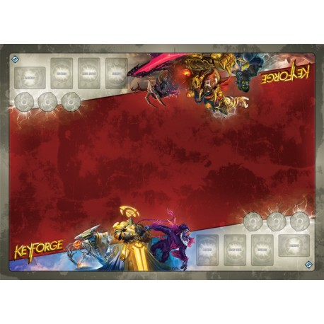Tapis de Jeu 2 Joueurs KeyForge Architect's Vault Two-Player Gamemat