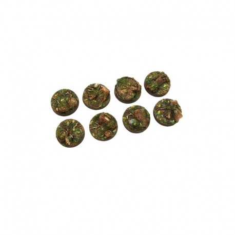 5 Socles Forest Bases 27mm