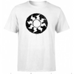 Magic The Gathering White Mana Splatter Men's T-Shirt - White - L