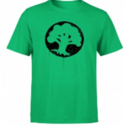 Magic The Gathering Green Mana Splatter Men's T-Shirt - Kelly Green - L