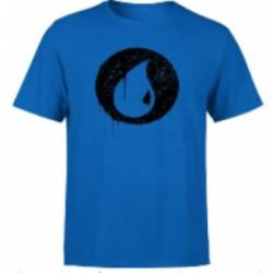 Magic The Gathering Blue Mana Splatter Men's T-Shirt - Royal Blue - L