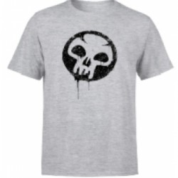 Magic The Gathering Black Mana Splatter Men's T-Shirt - Grey - L