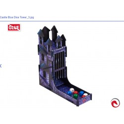 e-Raptor Dice Tower Castle FullPrint Blue