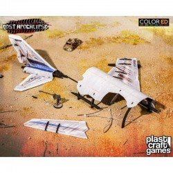Post Apocalypse ColorED maquette pour jeu de figurines 28 mm Fuselage Wreckage