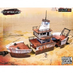 Post Apocalypse ColorED maquette pour jeu de figurines 28 mm Stranded Ship
