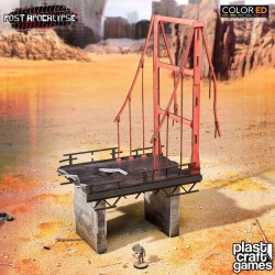Post Apocalypse ColorED maquette pour jeu de figurines 28 mm Wasteland Bridge
