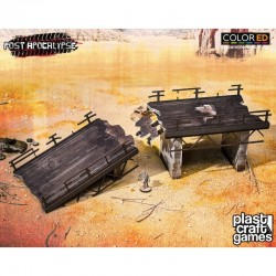 Post Apocalypse ColorED maquette pour jeu de figurines 28 mm Wasteland Highway N°1