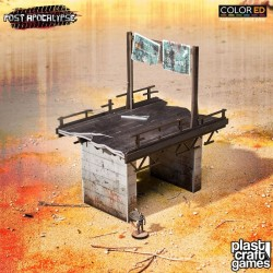 Post Apocalypse ColorED maquette pour jeu de figurines 28 mm Wasteland Highway N°2