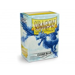 Protèges cartes Dragon Shield - Matte Clear Blue