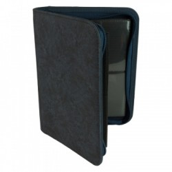 Portfolio ZIP 4 Cases (160 cartes / 20 Pages) Premium BlackFire - Blue