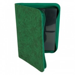 Portfolio ZIP 4 Cases (160 cartes / 20 Pages) Premium BlackFire - Green