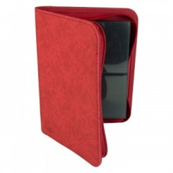 Portfolio ZIP 4 Cases (160 cartes / 20 Pages) Premium BlackFire - Red