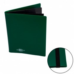 Portfolio 4 Cases (160 cartes / 20 Pages) Flexible BlackFire - Green