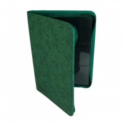 Portfolio ZIP 9 Cases (360 cartes / 20 Pages) Premium BlackFire - Green