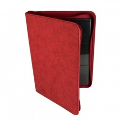 Portfolio ZIP 9 Cases (360 cartes / 20 Pages) Premium BlackFire - Red