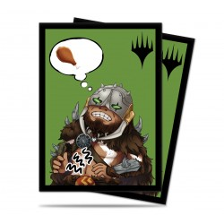 100 Protège-Cartes Magic The Gathering - Chibi Collection Garruk - I'm Starving!