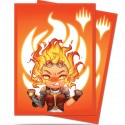 100 Protège-Cartes Magic The Gathering - Chibi Collection Chandra - Maximum Power