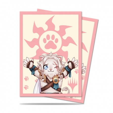 100 Protège-Cartes Magic The Gathering - Chibi Collection Ajani - Lion Hug