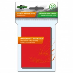 50 Protèges Cartes BlackFire - Taille Standard - Matte - Red