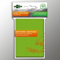 60 Protèges Cartes BlackFire - Taille Jap- Double-Matte Lime Green