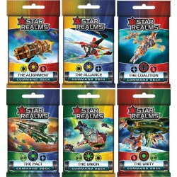 Collection Complète Star Realms 6 Command Decks