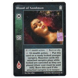 Blood of Sandman Carte Vampire The Eternal Struggle