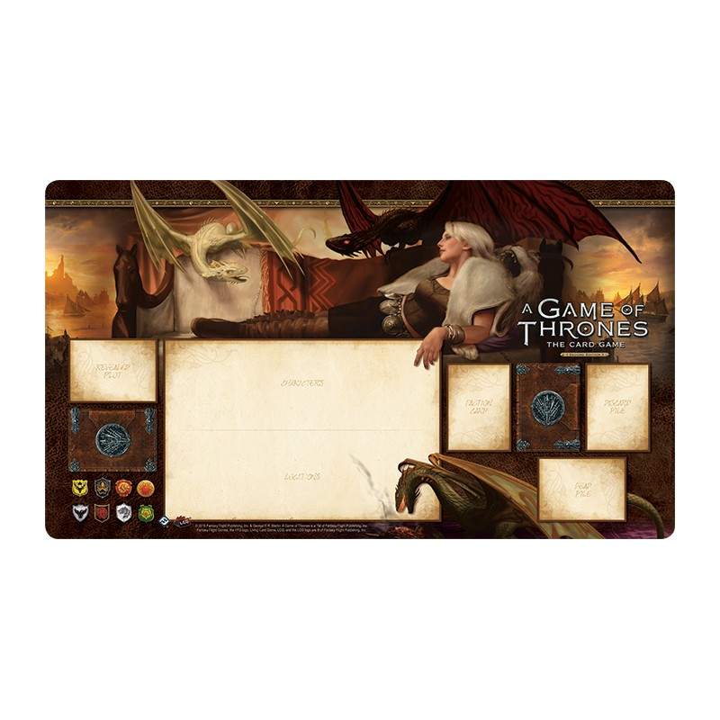 tapis de jeu playmat agot stormborn ludiworld. Black Bedroom Furniture Sets. Home Design Ideas