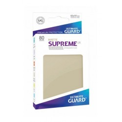 80 Protèges Cartes Supreme UX Sleeves taille standard Sable Mat - Ultimate Guard