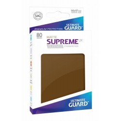 80 Protèges Cartes Supreme UX Sleeves taille standard Marron Mat - Ultimate Guard