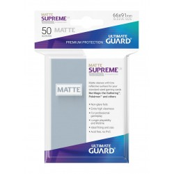 50 Protèges Cartes Supreme UX Sleeves Transparent Mat