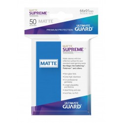 50 Protèges Cartes Supreme UX Sleeves Bleu Roi Mat
