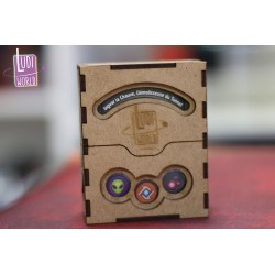 Deck Box Bois Keyforge Ludiworld - Design Cercle